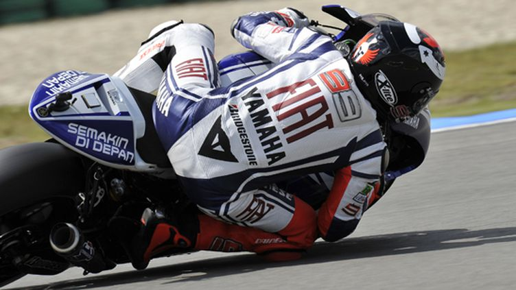 Jorge Lorenzo (Yamaha) vu de dos