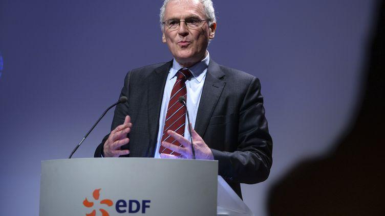 Le PDG d'EDF Jean-Bernard Lévy le 14 février 2017. (ERIC PIERMONT / AFP)