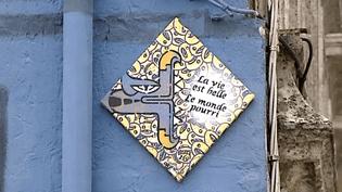 Dorénavant, le Questalcoat d'Oré philisophe sur les murs d'Angoulême  (France 3 / Culturebox)