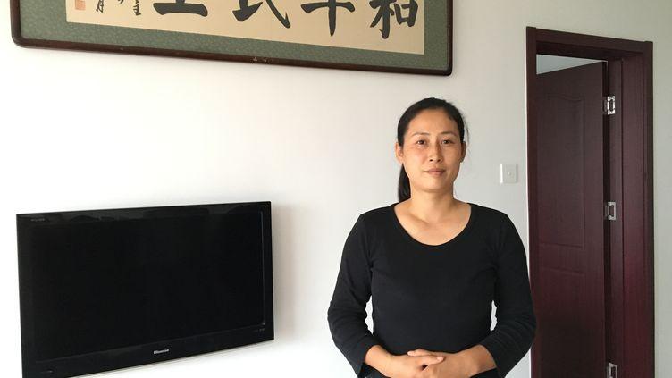 Yuan Shanshan, épouse de l'avocat des droits de l'homme Xie Yanyi, arreté en Juillet 2015. (RADIO FRANCE / Dominique André)