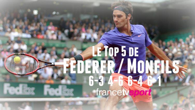 Federer sans pitié pour Monfils