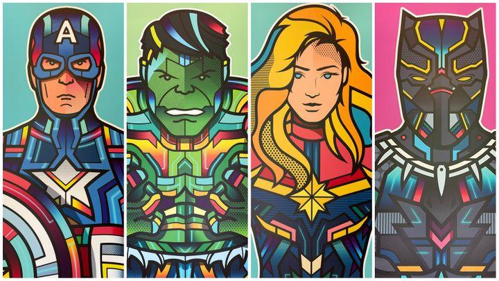 Des oeuvres représentant des héros Marvel en style pop art ont été réalisées spécialement pour orner les couloirs de l'hôtel. (Anthony Jammot)