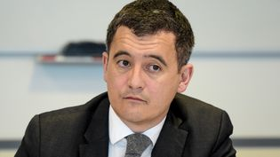 Le ministre de l'Action et des Comptes publics, Gérald Darmanin, à Pantin(Seine-Saint-Denis), le 29 mars 2018. (ERIC PIERMONT / AFP)