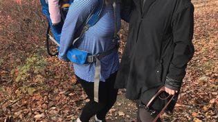 Hillary Clinton et Margot Gerster, le 9 novembre 2016 à Chappaqua (Etat de New York). (MARGOT GERSTER / FACEBOOK)