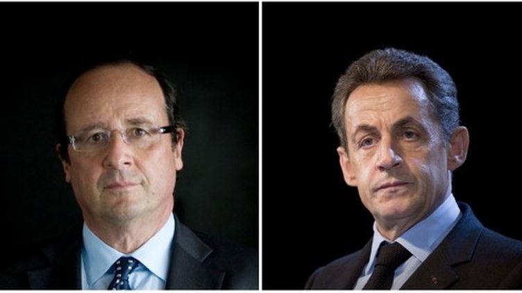 François Hollande et Nicolas Sarkozy (AFP - MARTIN BUREAU LIONEL BONAVENTURE)