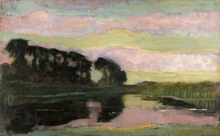 "Piet Mondrian, ""Grand paysage"", vers 1907-1908 (© Kunstmuseum Den Haag, The Hague, the Netherlands)"