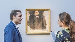 Le portrait d'Edmond de Belamy, produit par un programme d'intelligence artificielle.  (Christie's)