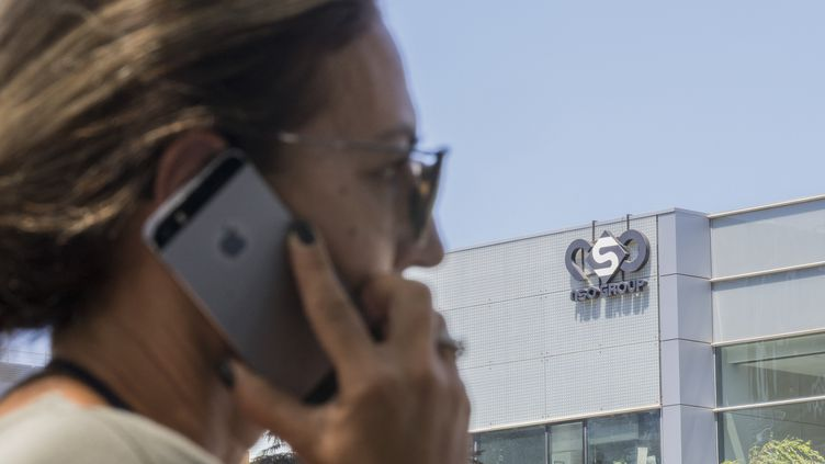 """Le logiciel espion a été créé par le groupe israélien NSO """"Pegasus"""", basé à Herzliya, près de Tel Aviv. (JACK GUEZ / AFP)"""
