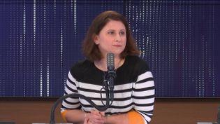 Roxana Maracineanu, ministre déléguée chargée des Sports, le 19 février 2021 sur franceinfo.  (FRANCEINFO / RADIO FRANCE)