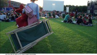Cinéma en plein air a la Villette en 2018. (JULES/SIPA / SIPA)