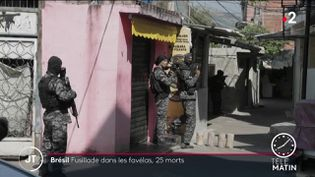 Des forces de police brésiliennes. (France 2)