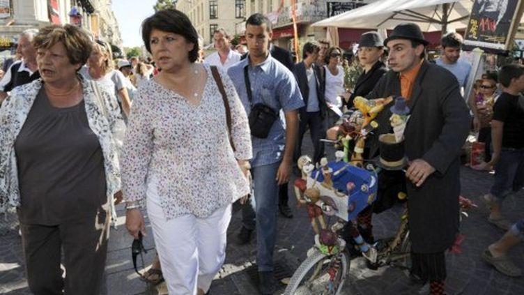 Martine Aubry, à Avignon, le 15 juillet 2011 (AFP/ANNE-CHRISTINE POUJOULAT)