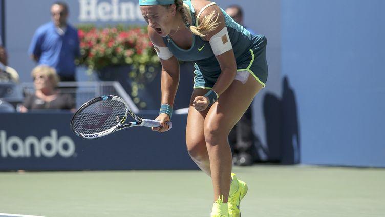 Victoria Azarenka rejoint les quarts de finale de l'US Open pour la 4e année consécutive. (KENA BETANCUR / AFP)