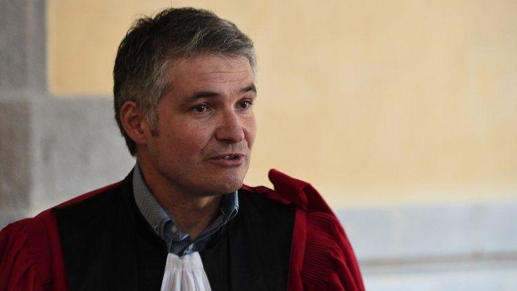 L'avocat général Stéphane Cantero au procès de Daniel Legrand, à Rennes (Ille-et-Vilaine), le 4 juin 2015. (DAMIEN MEYER / AFP)