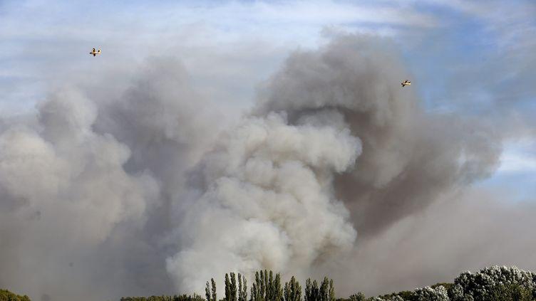 Un incendie avait déjà frappé la commune de Port-de-Bouc (Bouches-du-Rhône), le 15 juillet 2017. (MAXPPP)