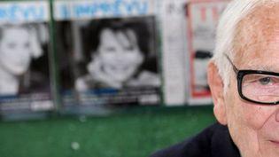 Pierre Cardin, juin 2012, chez lui à Paris  (M.Fedouach. AFP)