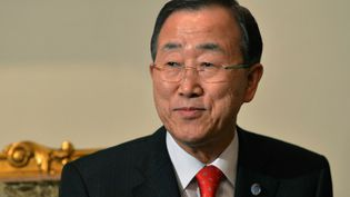 Ban Ki-moon, le 21 novembre 2012 au Caire (Egypte). (KHALED DESOUKI / AFP)
