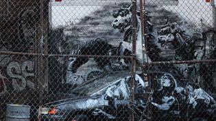 """Une oeuvre de Banksy dévoilée le 9 octobre à New York dans le Lower East Side, dans le cadre de son projet """"Better Out Than In"""".  (banksyny.com)"""