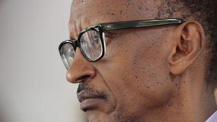Le président rwandais Paul Kagame àKigali, la capitale du Rwanda, le 6 avril 2014. (EVAN SCHNEIDER / UNITED NATIONS / AFP)