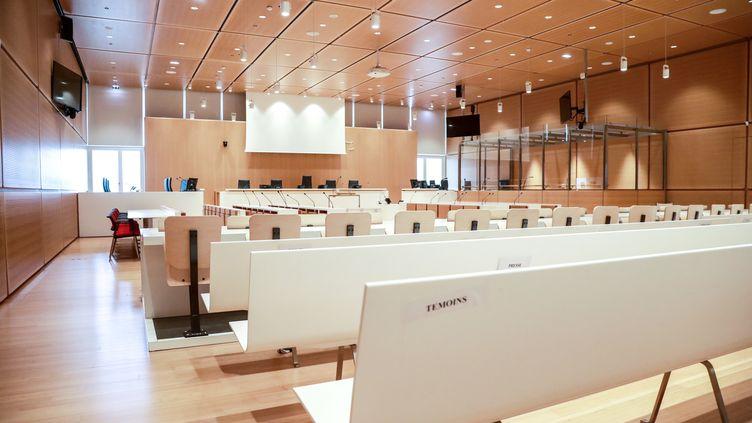 La salle d'audience du tribunal correctionnel de Paris, le 23 septembre 2019 (illustration). (JACQUES DEMARTHON / AFP)