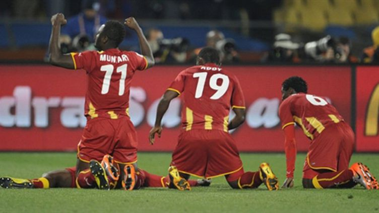 Les Ghanéens heureux (JAVIER SORIANO / AFP)