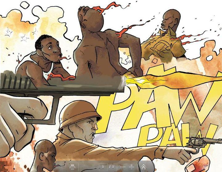 Extrait de la bande dessinée «Morts par la France» (Perna/Otero/Ed. Les Arènes)