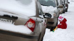 Si la neige complique le quotidien des Russes, elle bonheur de certains à l'instar de cet enfant, le 1er décembre 2012 à Veliki Novgorod. (KONSTANTIN CHALABOV / RIA NOVOSTI)