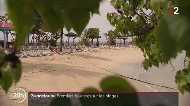 Guadeloupe : les premiers touristes arrivent sur les plages