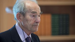 L'ancien ministre de la Justice, Robert Badinter, le 1er avril 2019 à Paris. (ERIC FEFERBERG / AFP)