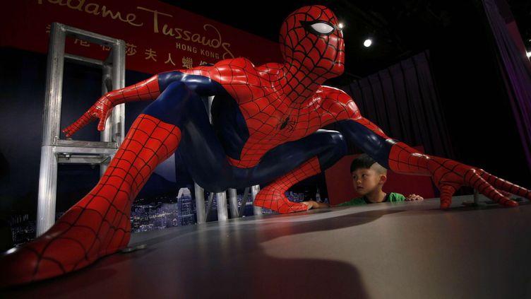 Un Spider-Man en cire, à Hong Kong  (Kin Cheung / AP / SIPA)