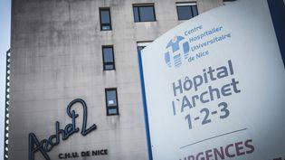 Le centre hospitalier universitaire de Nice (Alpes-Maritimes), le 26 février 2020. (FREDERIC DIDES / HANS LUCAS / AFP)