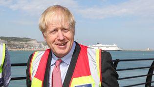 Le Premier ministre britannique, Boris Johnson, visite le port de Douvres (Royaume-Uni), le 11 juillet 2019. (CHRIS RATCLIFFE / AFP)