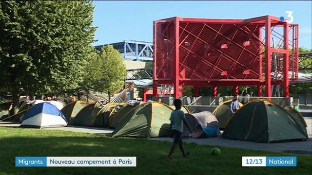 Migrants : un nouveau campement à Paris