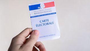 Une carte électorale. (VALENTINO BELLONI / HANS LUCAS / AFP)