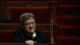 Le chef de file des députés La France insoumise, Jean-Luc Mélenchon, le 4 février 2020 à l'Assemblée nationale à Paris. (THOMAS SAMSON / AFP)
