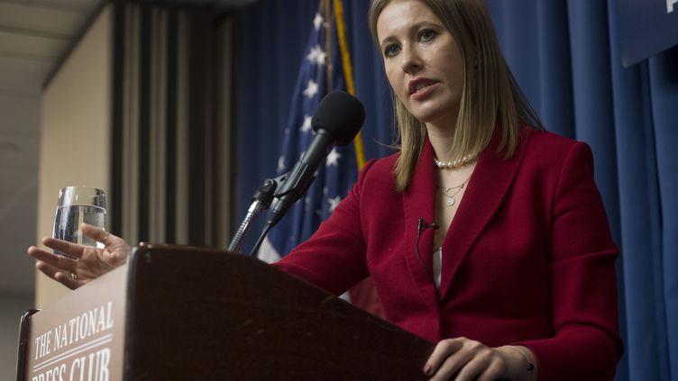 KseniaSobtchak, candidate à l'élection présidentielle russe. (SAUL LOEB / AFP)