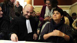 Maître Richard Malka Natalia Baleato directrice de la crèche au tribunal en décembre 2010 (HALEY / SIPA)