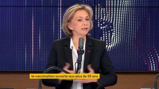 Valérie Pécresse, présidente de la région Ile-de-France, lundi 12 avril 2021 sur franceinfo. (FRANCEINFO / RADIOFRANCE)