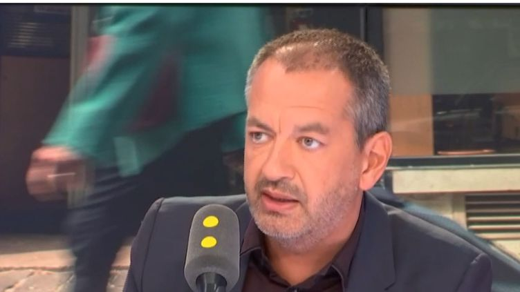 Le secrétaire général de Force ouvrière (FO) Pascal Pavageau, invité de franceinfo vendredi 31 août. (RADIO FRANCE / FRANCE INFO)