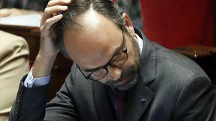 Le Premier ministre, Edouard Philippe, lors de la séance des questions au gouvernement, le 19 décembre 2017, à l'Assemblée nationale, à Paris. (PATRICK KOVARIK / AFP)