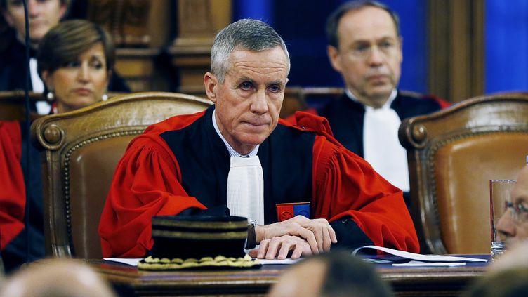 Le procureur de la République de Paris, François Molins, lors de l'audience solennelle de rentrée du tribunal de grande instance de Paris, lundi 18 janvier 2016. (THOMAS SAMSON / AFP)