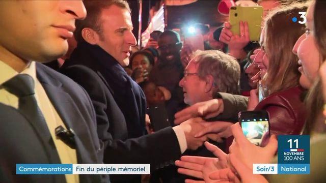 Commémorations : fin du périple mémoriel d'Emmanuel Macron