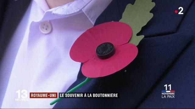 Royaume-Uni : le coquelicot en boutonnière, symbole de la Grande Guerre