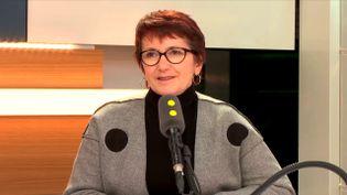 La présidente de la FNSEA, Christiane Lambert, le 20 novembre 2017 sur franceinfo. (RADIO FRANCE / FRANCEINFO)