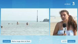La journaliste Justine Reix, à Malo-les-Bains, dans le Nord, le dimanche 9 août 2020. (FRANCE 3)