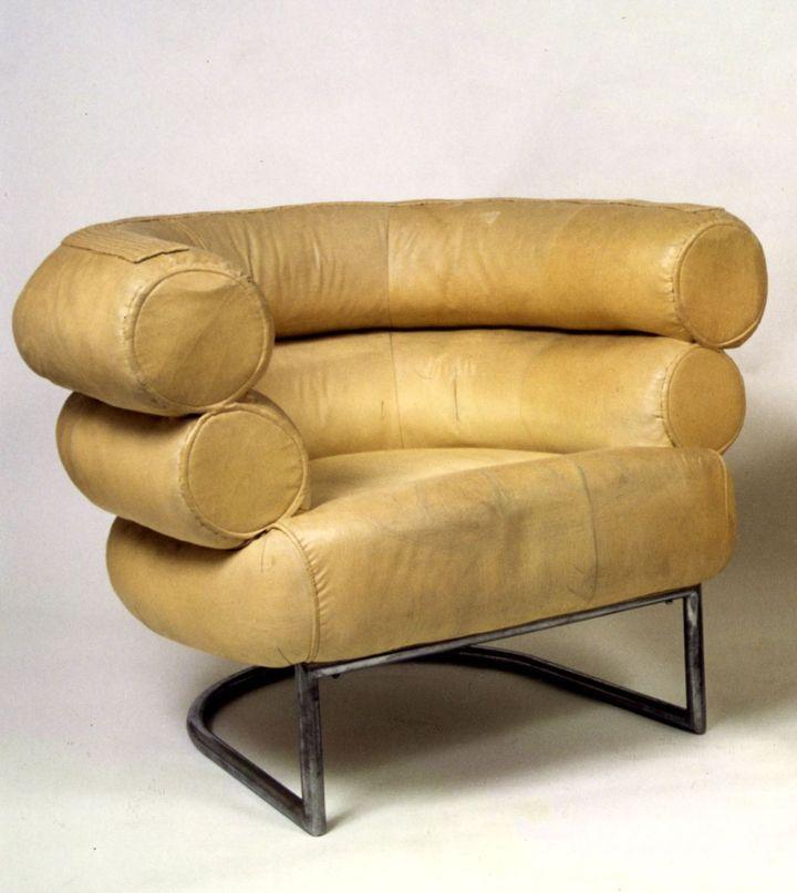 Eileen Gray, Fauteuil Bibendum, vers 1930, collection privée (mobilier provenant de la collection de Mme Tachard)  (photo : Monsieur Christian Baraja, Studio SLB)