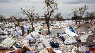 La décharge sauvage de Carrières-sous-Poissy dans les Yvelines. (MAXPPP)