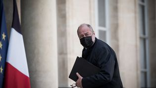 Le ministre de la Justice, Eric Dupond-Moretti, arrive à l'Elysée, à Paris, le 31 mars 2021. (ARTHUR NICHOLAS ORCHARD / HANS LUCAS / AFP)