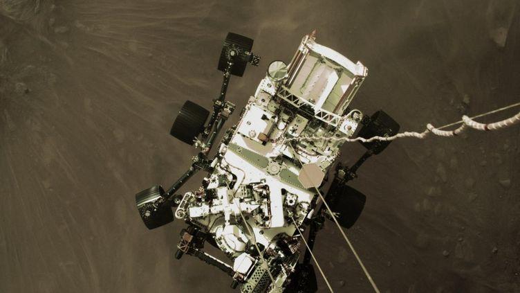 Le robot Perseverance a atterri sur Mars le 18 février 2021. (NASA / JPL-CALTECH / AFP)