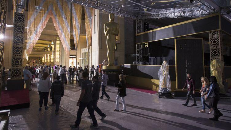 Préparatifs au Hollywood & Highland Centerpour la 88e cérémonie des Oscars (25 février 2016)  (David McNew / Getty Images North America / AFP)